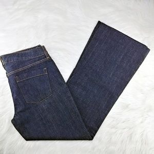 J. Crew | mid-rise wide leg trouser jeans